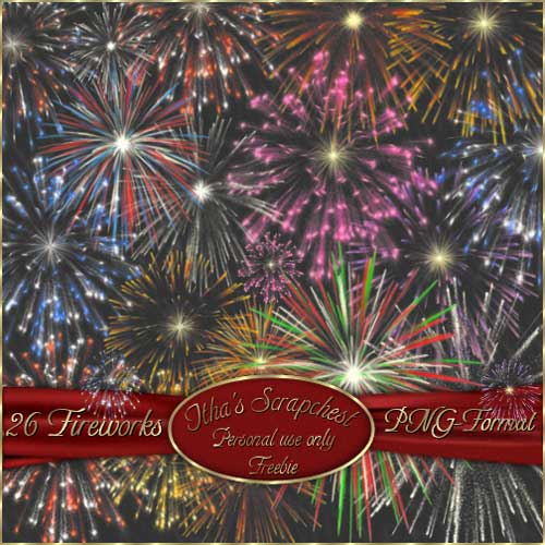 Png fireworks cliparts alpha 26