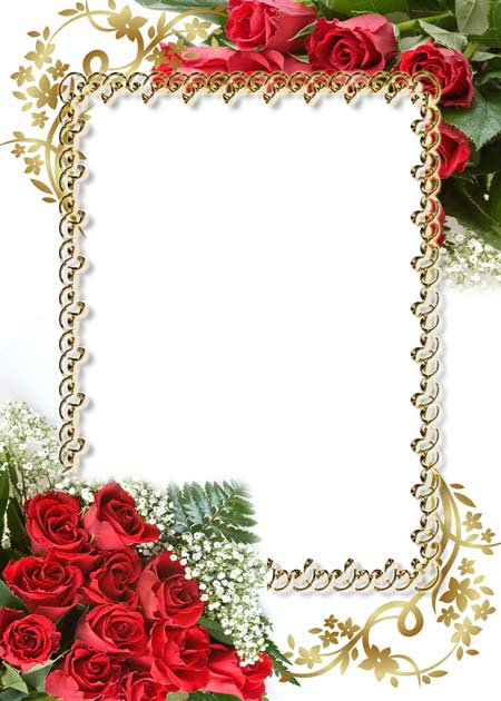 Psd roses photo frame 2447x3425 300 dpi