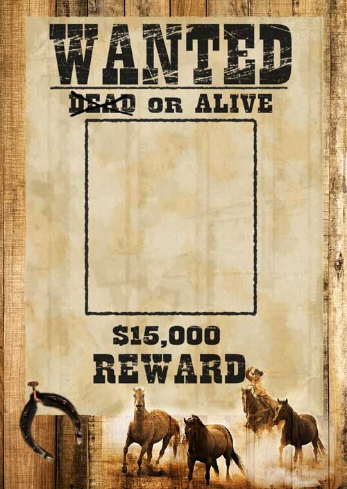 Wanted Dead Or Alive – фотошаблон в формате PSD - Скачать ...