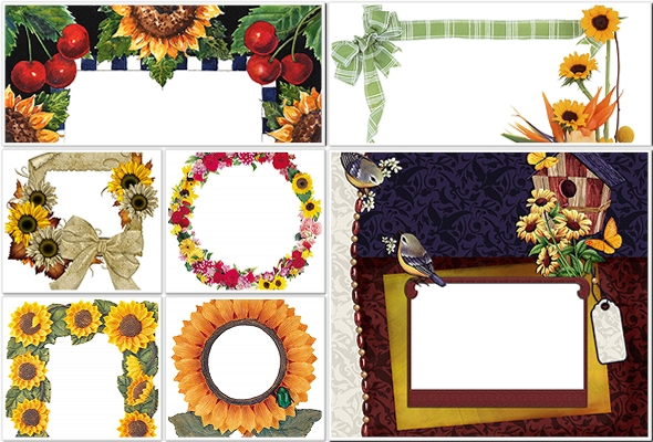 PNG.Sunflowers.Frames.VR.11