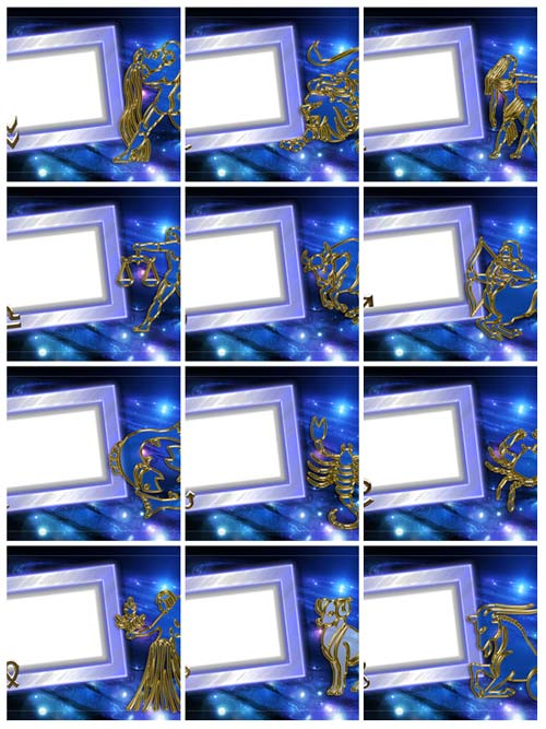 PNG.Zodiac.Signs.Photo.Frames.3543x2362.12