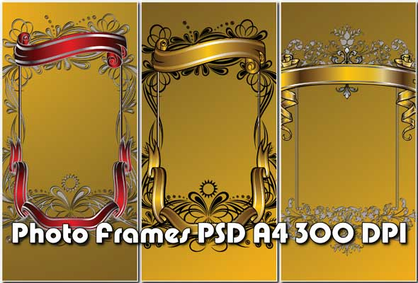 PSD.Gold.Photo.Frames.2362x3543.3
